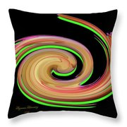 The Whirl Of Life, W13.1b Throw Pillow