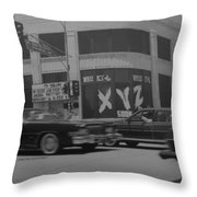 The Whiskey In Black And White Throw Pillow