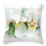 The Whispering Irises Throw Pillow