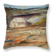 The White Barn Throw Pillow