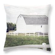 The White Barn Throw Pillow