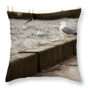 The White Bird Throw Pillow