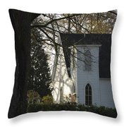 The White Church Throw Pillow