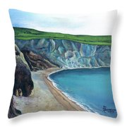 The White Cliffs Of Dover Throw Pillow