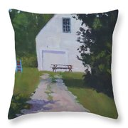 The White Garage - Art By Bill Tomsa Throw Pillow