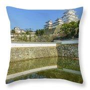 The White Heron Castle - Himeji Throw Pillow