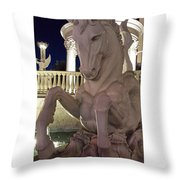 The White Horse Throw Pillow