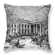 The White House, 1877 Throw Pillow