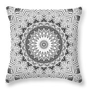The White Kaleidoscope No. 2 Throw Pillow