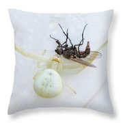 The White Killer Throw Pillow