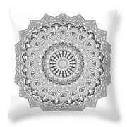The White Mandala No. 3 Throw Pillow