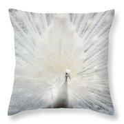 The White Peacock Throw Pillow