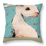 The White Rabbit Throw Pillow