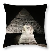 The White Sphynx Throw Pillow