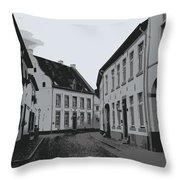 The White Village - Digital Throw Pillow