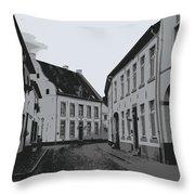 The White Village - Digital Throw Pillow