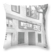Mystery Daze Mystery Street Throw Pillow