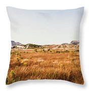 The Wide West Throw Pillow