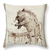 The Wild Boar Throw Pillow