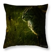 The Wild Cat Throw Pillow