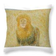 The Wild  Lion Throw Pillow