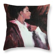 The Will Of A Woman Throw Pillow