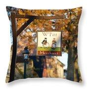 The William Pitt Shop Sign Throw Pillow