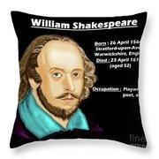 The William Shakespeare Throw Pillow