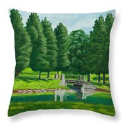 The Willow Path Throw Pillow