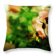 The Wind Around Her Shoulders Throw Pillow