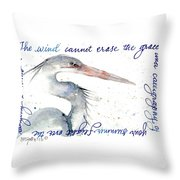 The Wind Cannot Erase Your Flight Throw Pillow
