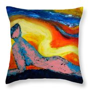The Wind In Your Hair Throw Pillow