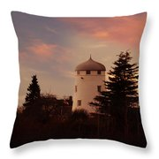 The Windmill At Sunset Throw Pillow