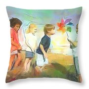 The Windmill Game Throw Pillow