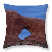 The Window At Arches N.p. After Dark Throw Pillow