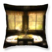 The Window At Breakfast Throw Pillow