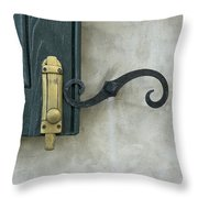 The Window Latch Throw Pillow
