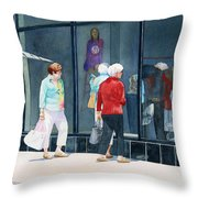 The Window Shoppers Throw Pillow
