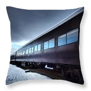 The Windows Of The Train Throw Pillow