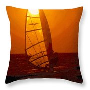 The Windsurfer Throw Pillow