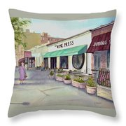 The Wine Press Throw Pillow