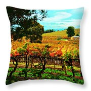 The Winemakers Residence Throw Pillow