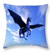 The Winged Horse Throw Pillow