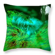 The Winged Terror Of Titicaca Throw Pillow