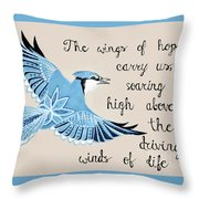 The Wings Of Hope Throw Pillow