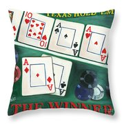 The Winner Throw Pillow by Debbie DeWitt