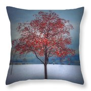 The Winter Berries Throw Pillow