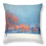 The Winter Blues Throw Pillow
