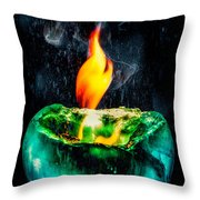 The Winter Of Fire And Ice Throw Pillow