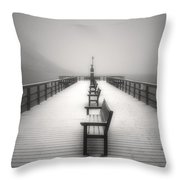 The Winter Pier Throw Pillow